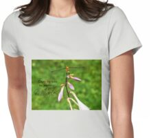 Dragonfly Miracle - Inspirational  Womens Fitted T-Shirt