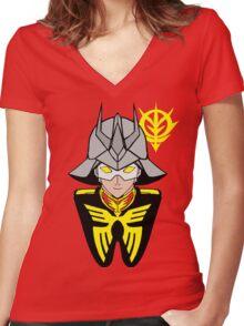 Char Aznable Women's Fitted V-Neck T-Shirt