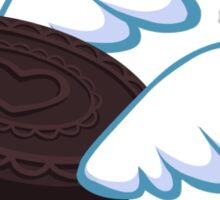 Just a Flying Cookie Sticker in Chocolate Sandwich Sticker