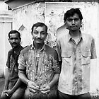 Indian Day Laborers Hyderabad by Andrew  Makowiecki