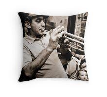Metro musician Throw Pillow