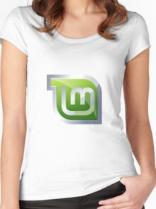 Linux Mint Women's Fitted Scoop T-Shirt