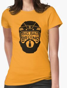 Big Bad Bruins Beard Womens Fitted T-Shirt