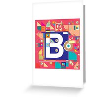 B in style Greeting Card