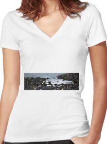 Tide Pool Women's Fitted V-Neck T-Shirt