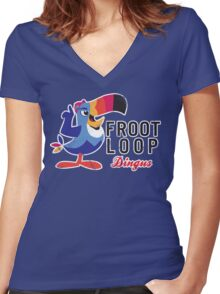 Fruit Loop Dingus Women's Fitted V-Neck T-Shirt