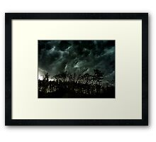 Danger in the Clouds Framed Print