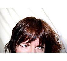 Portrait - Close Crop of Female Face Photographic Print