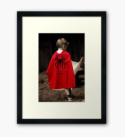 Little Hero Framed Print