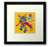retro robot in style Framed Print