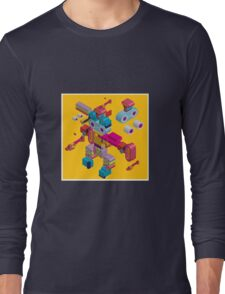 retro robot in style Long Sleeve T-Shirt