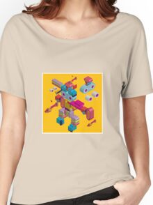 retro robot in style Women's Relaxed Fit T-Shirt