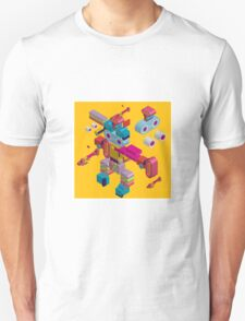 retro robot in style Unisex T-Shirt