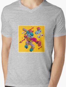 retro robot in style Mens V-Neck T-Shirt