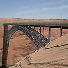 Glen Canyon Dam Bridge. by Finbarr Reilly