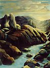 Mountains of Inspiration - landscape painting by LindaAppleArt
