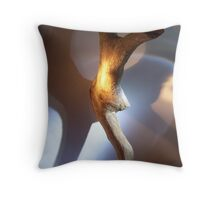 wood, you dance in our circle.. Throw Pillow