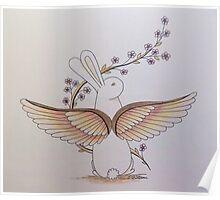 Angel Rabbit Poster