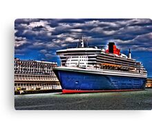 Welcome to Queen Mary 2 Canvas Print
