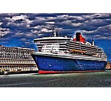 Welcome to Queen Mary 2 Photographic Print