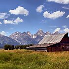 Barn in Grand Tetons (2) by Teresa Zieba
