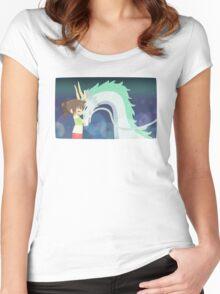 Spirited Away - Chihiro and Haku Women's Fitted Scoop T-Shirt