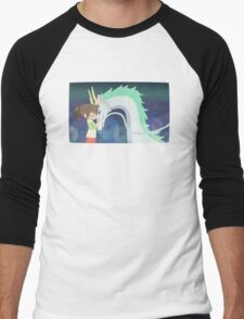 Spirited Away - Chihiro and Haku Men's Baseball ¾ T-Shirt