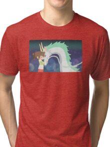 Spirited Away - Chihiro and Haku Tri-blend T-Shirt