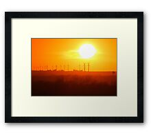 Forest City Iowa Sunset Framed Print