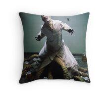 Dr. Monster Throw Pillow