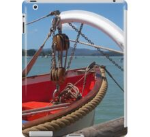 Lifeboat, swung out and ready to go...........! iPad Case/Skin