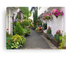 Flag Street, Hawkshead, Cumbria, English Lake District Canvas Print