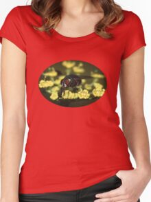 Fly & Pollen Women's Fitted Scoop T-Shirt