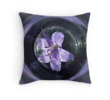 Bottled Flower Throw Pillow
