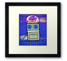 Robot Finds Brains Framed Print