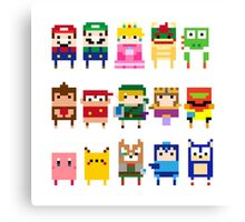 NINTENDO CHARACTERS Canvas Print