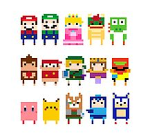 NINTENDO CHARACTERS Photographic Print