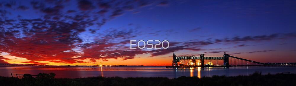 Kwinana Grain Jetty At Dusk  by EOS20