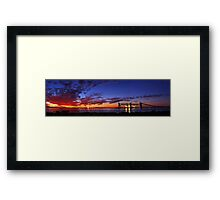 Kwinana Grain Jetty At Dusk  Framed Print