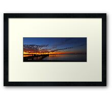 Esplanade Jetty At Dusk  Framed Print