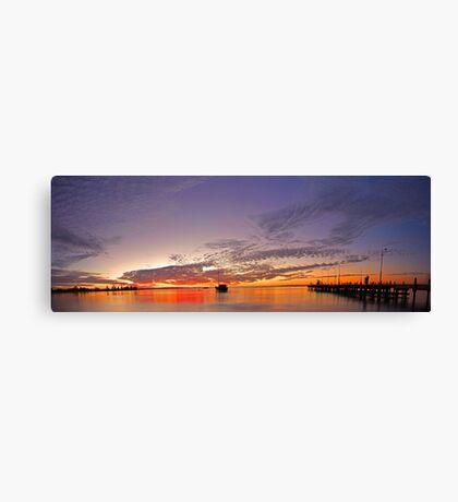 Esplanade Jetty At Dusk  Canvas Print