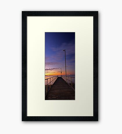 Rockingham Jetty  Framed Print