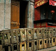 Wine Delivery on Rue Lepic by Linda Gregory