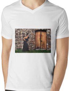 Fashion Model Fine Art Print Mens V-Neck T-Shirt