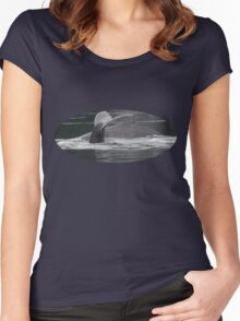 Humpback Whales in Motion Women's Fitted Scoop T-Shirt