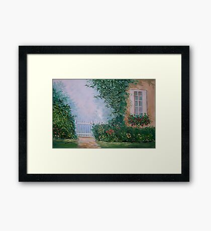 Front yard serenity Framed Print