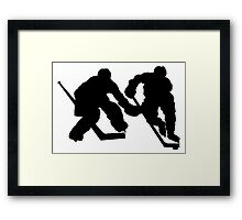 Hockey Players Framed Print