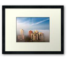 Edmonton in the Fog Framed Print