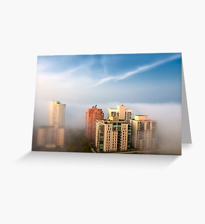 Edmonton in the Fog Greeting Card
