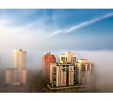 Edmonton in the Fog Photographic Print